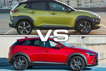 Hyundai Kona vs Mazda CX-3 –  Pratique ou ludique