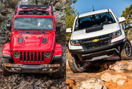 Jeep Gladiator vs Chevrolet Colorado ZR2 – Deux approches différentes