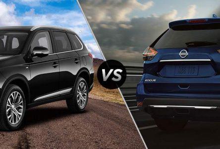 Mitsubishi Outlander vs Nissan Rogue – Deux vieux routiers