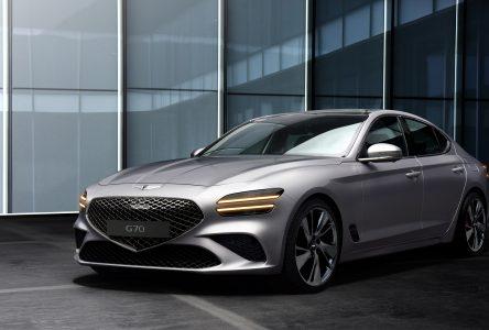 Quelques changements esthétiques pour la Genesis G70 en 2021