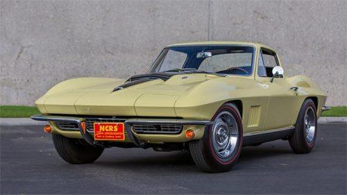 Une très rare Corvette mise à l'encan aujourd'hui