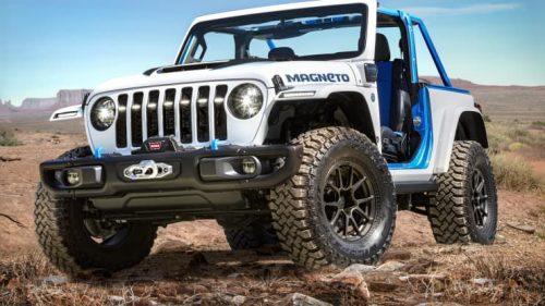 Jeep présente un Wrangler électrique