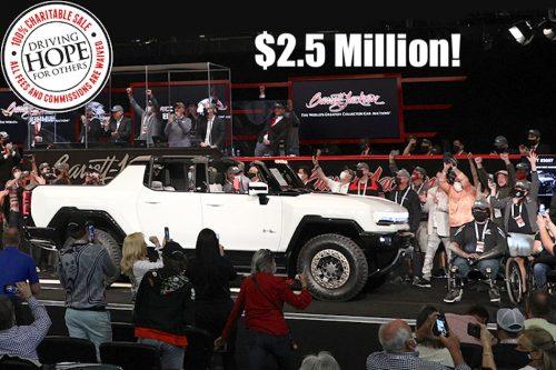 Le premier GMC Hummer électrique se vend 2,5 millions