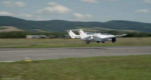 Une voiture volante à l'essai en Europe